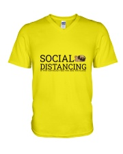 PUG SOCIAL DISTANCING V-Neck T-Shirt thumbnail