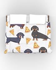 DACHSHUND WITH PIZZA Comforter - King aos-bed-comforters-twin-104x88-lifestyle-front-01