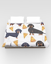 DACHSHUND WITH PIZZA Comforter - King aos-bed-comforters-twin-104x88-lifestyle-front-02