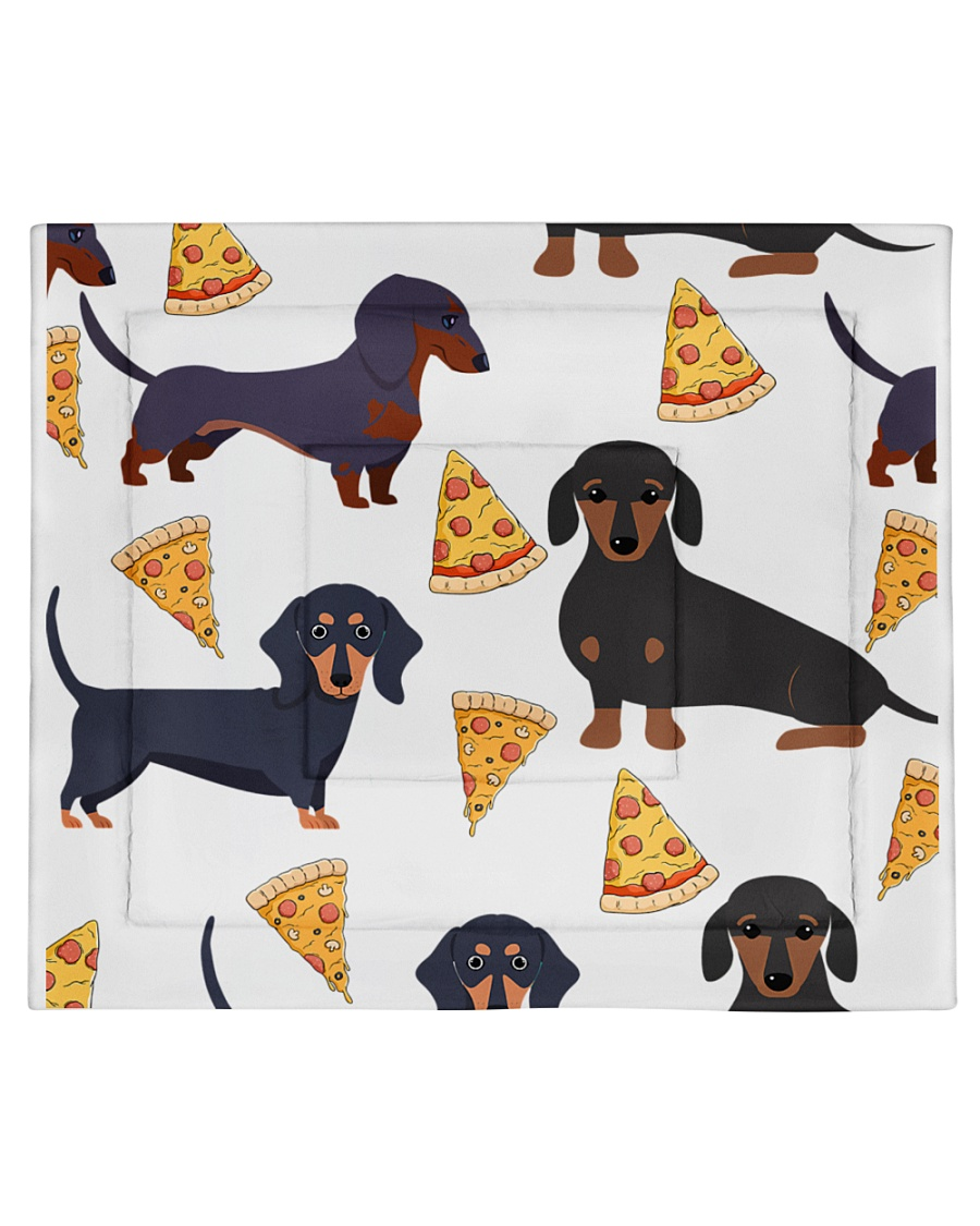 DACHSHUND WITH PIZZA Comforter - King