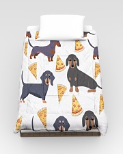 DACHSHUND WITH PIZZA Comforter - Twin aos-bed-comforters-twin-68x88-lifestyle-front-02