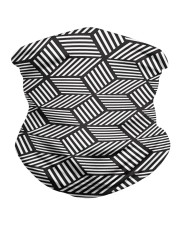 chevron striped cubes  Neck Gaiter front