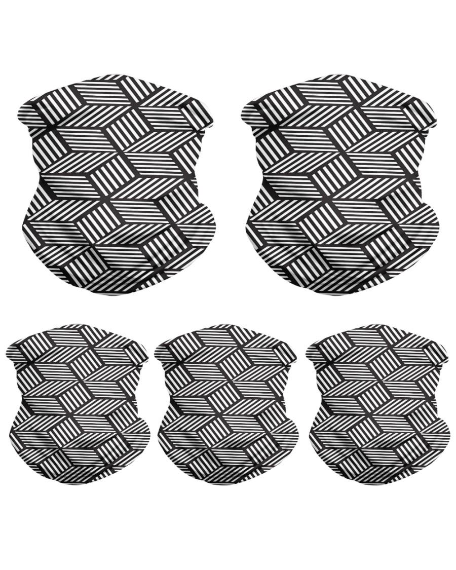 chevron striped cubes  Neck Gaiter - 5 Pack