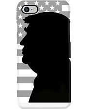 Donald trump portrait with silhouette style Phone Case thumbnail