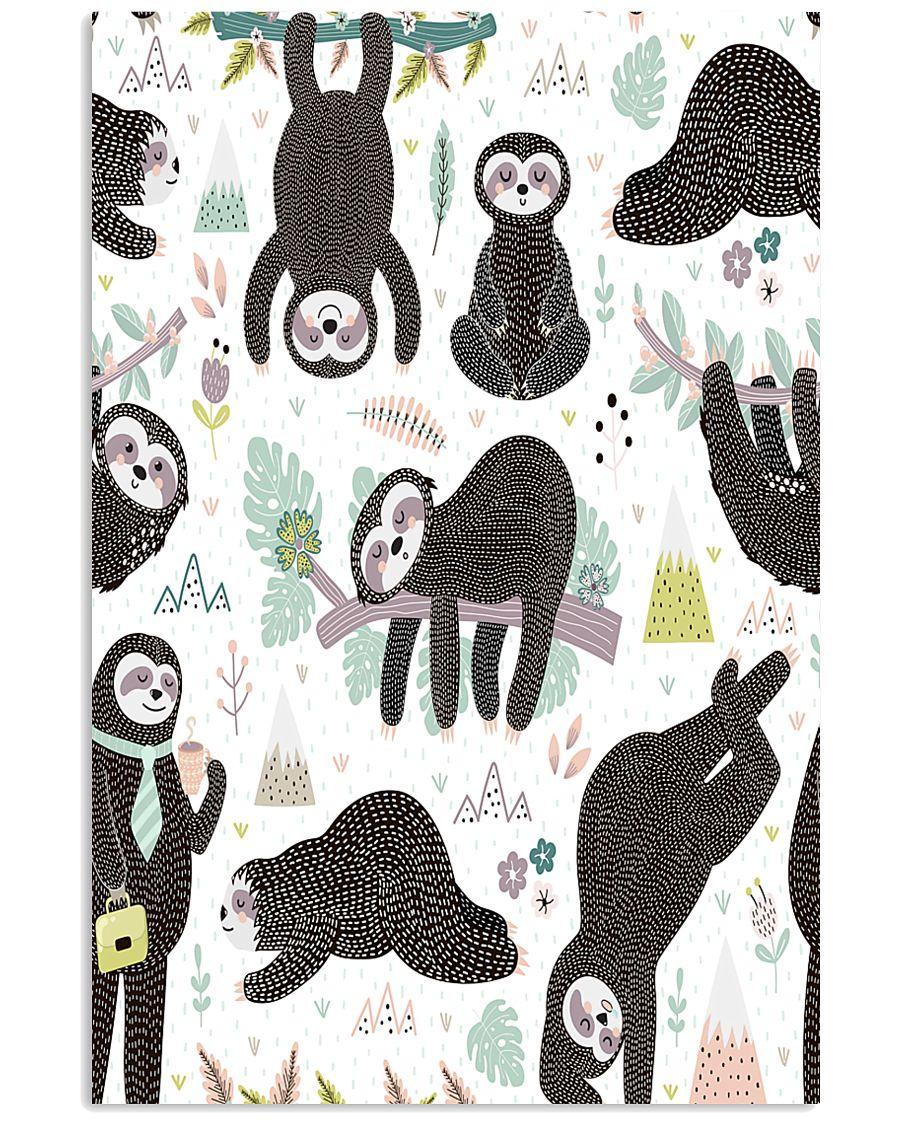 Cute sleeping sloths  11x17 Poster