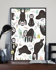 Cute sleeping sloths  11x17 Poster lifestyle-poster-2
