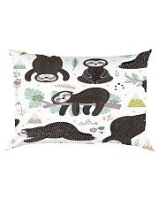Cute sleeping sloths  Rectangular Pillowcase thumbnail