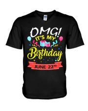 June 22nd V-Neck T-Shirt thumbnail