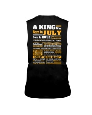 A King Was Born In  July Sleeveless Tee thumbnail