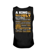A King Was Born In  July Unisex Tank thumbnail