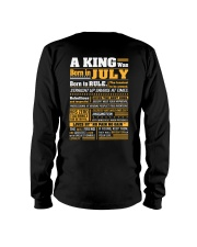 A King Was Born In  July Long Sleeve Tee thumbnail