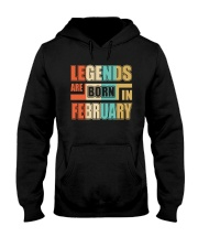 Legends Are Born In February Hooded Sweatshirt thumbnail
