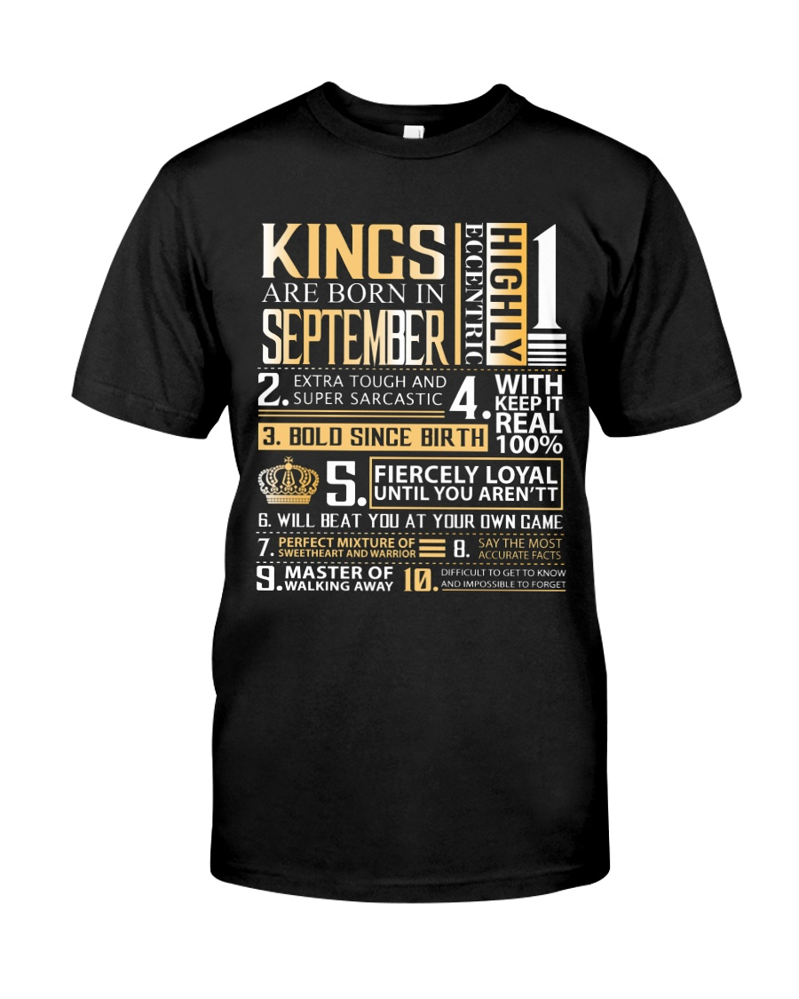 Kings Are Born In September  Classic T-Shirt