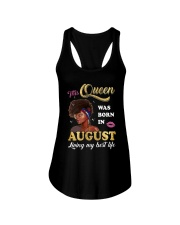 This Queen Was Born In August Ladies Flowy Tank thumbnail