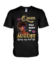 This Queen Was Born In August V-Neck T-Shirt thumbnail