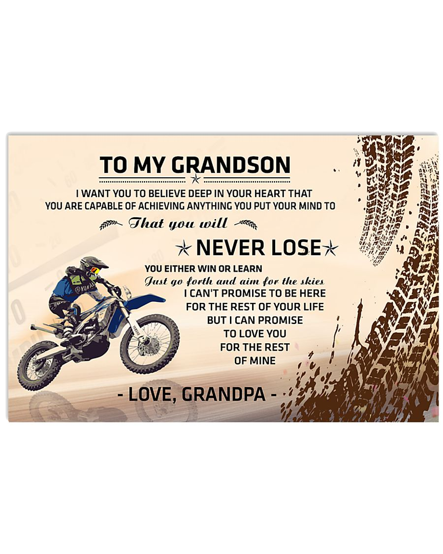 To My Grandson - Special Edition 17x11 Poster