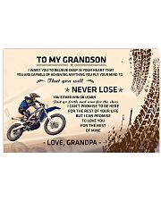 To My Grandson - Special Edition 17x11 Poster front