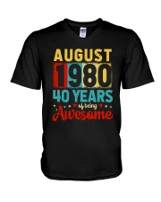 August 1980 - Special Edition V-Neck T-Shirt thumbnail