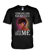 February Girl V-Neck T-Shirt thumbnail