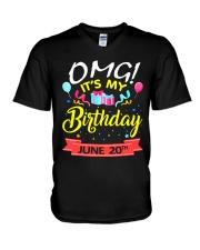 June 20th V-Neck T-Shirt thumbnail