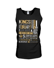 Kings Are Born In February  Unisex Tank thumbnail