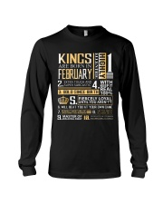 Kings Are Born In February  Long Sleeve Tee thumbnail
