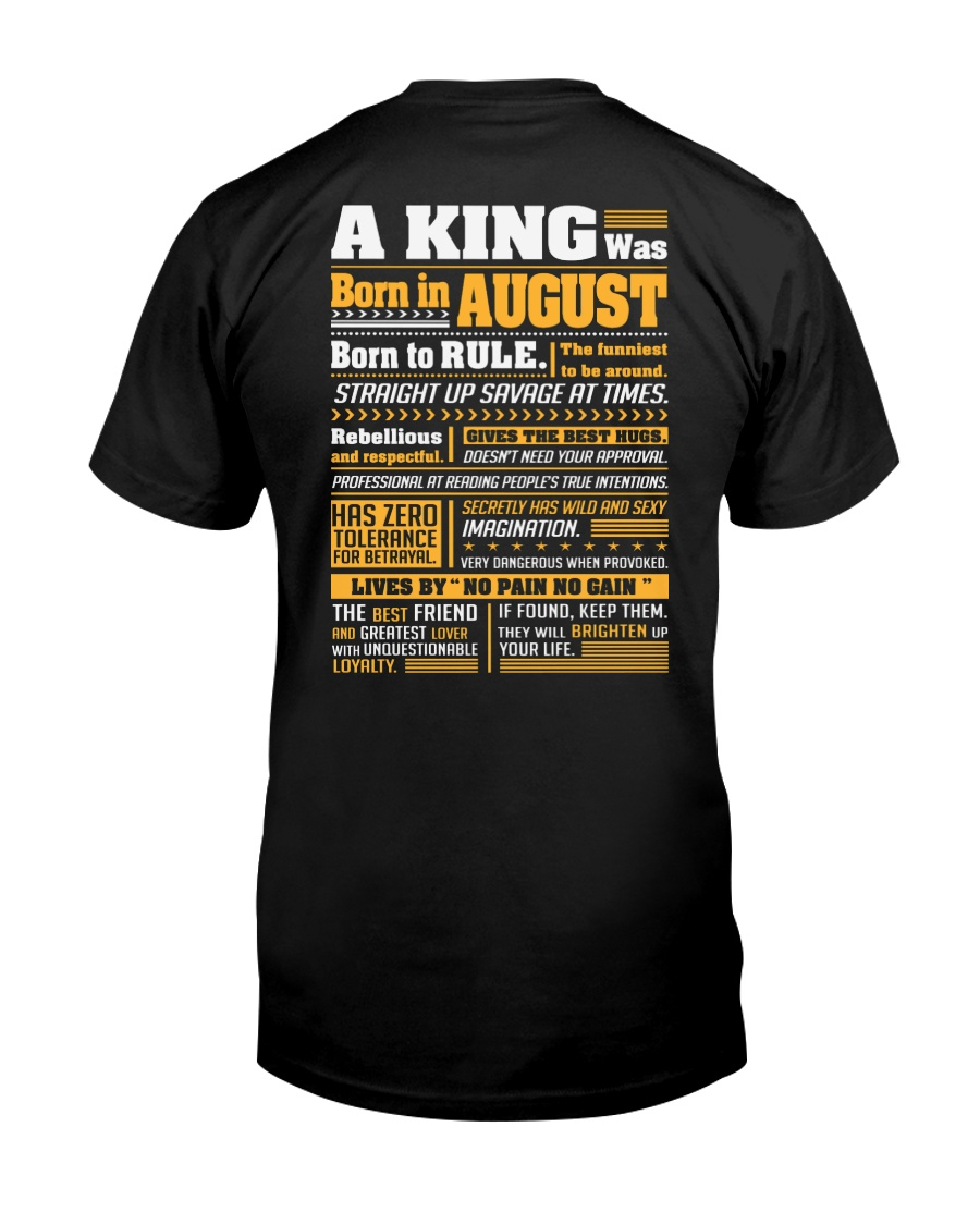 A King Was Born In August Classic T-Shirt