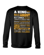 A King Was Born In August Crewneck Sweatshirt thumbnail