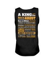 A King Was Born In August Unisex Tank thumbnail