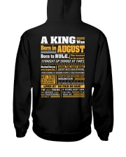 A King Was Born In August Hooded Sweatshirt thumbnail