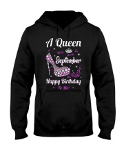 A Queen Was Born In September Hooded Sweatshirt thumbnail