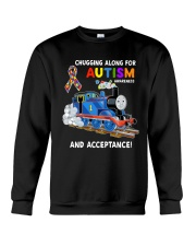 Chugging Along For Autism Awareness And Acceptance Crewneck Sweatshirt thumbnail