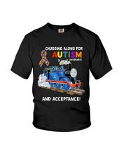 Chugging Along For Autism Awareness And Acceptance Youth T-Shirt thumbnail