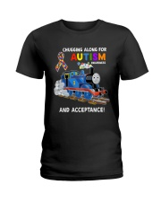 Chugging Along For Autism Awareness And Acceptance Ladies T-Shirt thumbnail