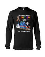 Chugging Along For Autism Awareness And Acceptance Long Sleeve Tee thumbnail