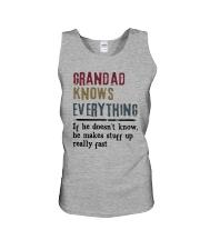 Grandad Knows Everything Unisex Tank thumbnail