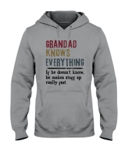 Grandad Knows Everything Hooded Sweatshirt front