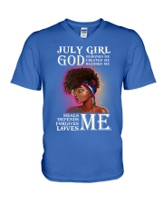 July Girl V-Neck T-Shirt thumbnail