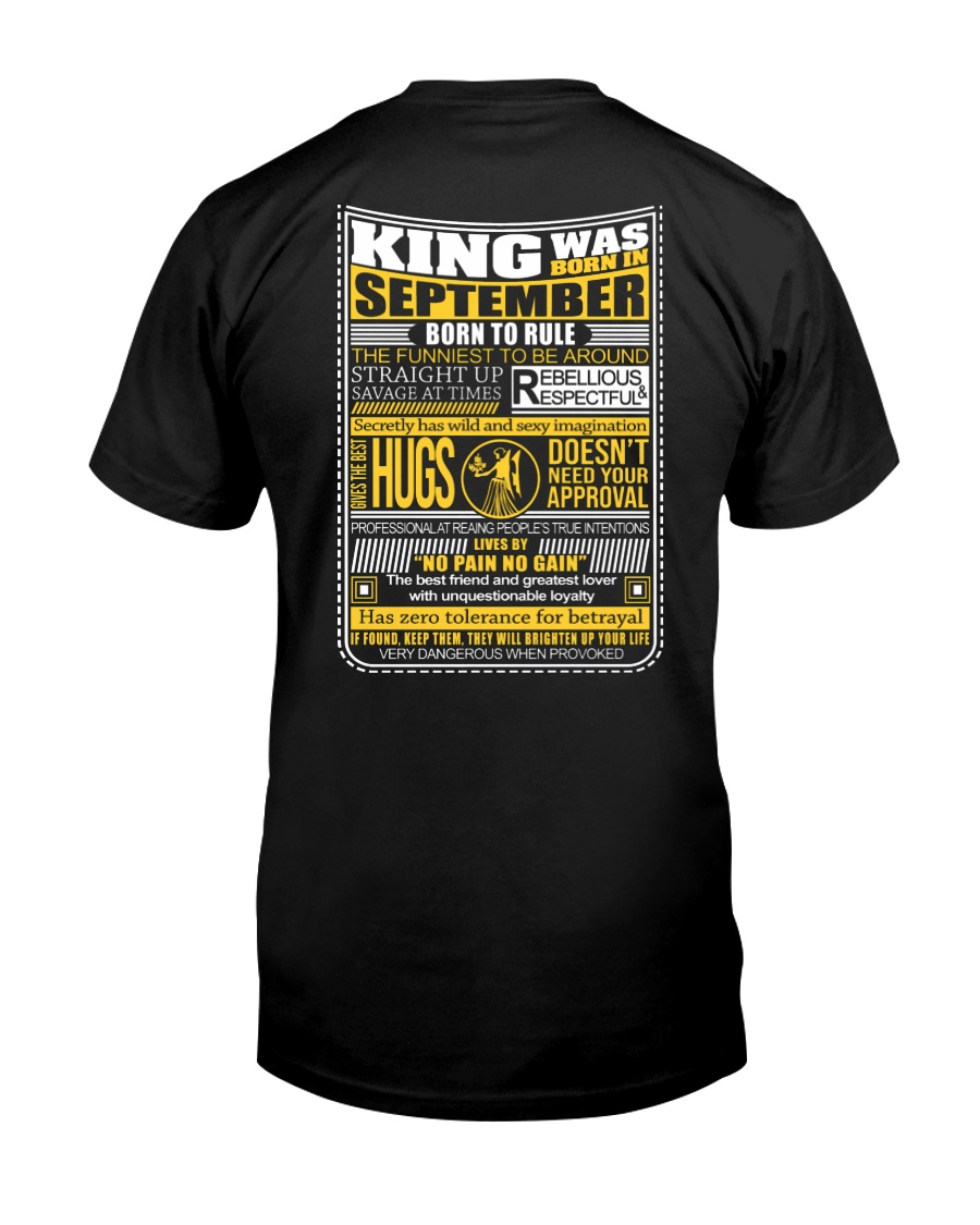 King Was Born September Classic T-Shirt
