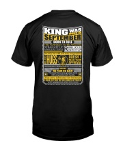 King Was Born September Classic T-Shirt back