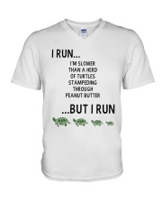 I Run - Special Edition V-Neck T-Shirt tile