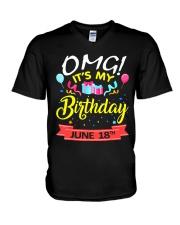June 18th V-Neck T-Shirt thumbnail