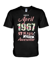 April Girl - Special Edition V-Neck T-Shirt tile