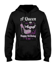 A Queen Was Born In August Hooded Sweatshirt thumbnail
