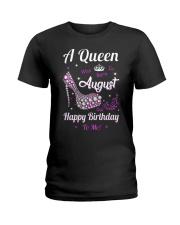 A Queen Was Born In August Ladies T-Shirt thumbnail