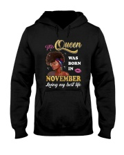 This Queen Was Born In November Hooded Sweatshirt thumbnail