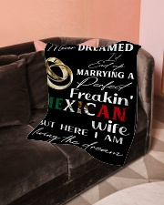 "Mexican Wife Small Fleece Blanket - 30"" x 40"" aos-coral-fleece-blanket-30x40-lifestyle-front-05"