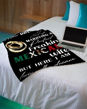 "Mexican Wife Small Fleece Blanket - 30"" x 40"" aos-coral-fleece-blanket-30x40-lifestyle-front-10"