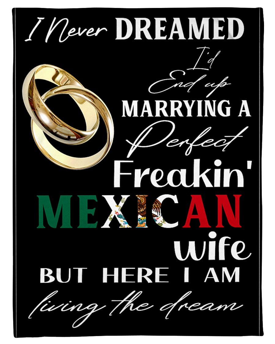 "Mexican Wife Small Fleece Blanket - 30"" x 40"""