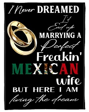"Mexican Wife Small Fleece Blanket - 30"" x 40"" front"